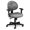 OFM 24 Hour Anti-Microbial Vinyl Computer Task Chair with Arms, Charcoal