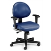 OFM 24 Hour Anti-Microbial Vinyl Computer Task Chair with Arms, Navy