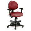24 Hour Computer Task Chair (Arms, Drafting Kit, Vinyl), Wine
