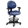 24 Hour Computer Task Chair (Arms, Drafting Kit, Vinyl), Navy