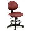 24 Hour Anti-Microbial Vinyl Computer Task Chair with Drafting kit, Wine