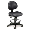 24 Hour Anti-Microbial Vinyl Computer Task Chair with Drafting kit, Black