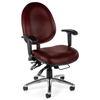 OFM 24-Hour Big & Tall Chair - Vinyl, Wine