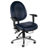 OFM 24-Hour Big & Tall Chair - Vinyl, Navy