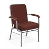 Big and Tall Stack Chair with Arms, Burgundy