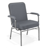 OFM Big and Tall Stack Chair with Arms, Gray