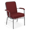 OFM Big and Tall Stack Chair with Arms, Wine