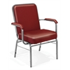 Big and Tall Anti-Microbial Vinyl Stack Chair with Arms, Wine