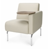 OFM Triumph Series Left Arm Modular Lounge Chair with Tablet Vinyl Seat and Chrome Frame