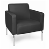 OFM Triumph Series Lounge Chair with Vinyl Seat and Chrome Frame