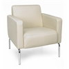 Triumph Series Lounge Chair with Vinyl Seat and Chrome Frame