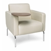 OFM Triumph Series Lounge Chair with Tablet Vinyl Seat and Chrome Frame