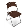 OFM Flexure Folding Chair, Chocolate