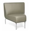 OFM Triumph Series Armless 45 Degree Lounge Chair with Vinyl Seat and Chrome Frame