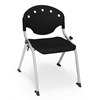 OFM Rico Student Stack Chair without Arms, Black