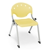 Rico Student Stack Chair without Arms, Lemon Yellow