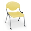 OFM Rico Student Stack Chair without Arms, Lemon Yellow