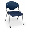 Rico Student Stack Chair without Arms, Navy