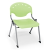 OFM Rico Student Stack Chair without Arms, Lime Green