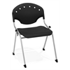 OFM Rico Stack Chair without Arms, Black