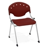 OFM Rico Stack Chair without Arms, Burgundy