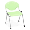 OFM Rico Stack Chair without Arms, Lime Green