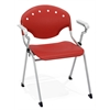 Rico Stack Chair with Arms, Red