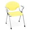 OFM Rico Stack Chair with Arms, Lemon Yellow