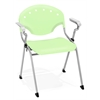 OFM Rico Stack Chair with Arms, Lime-Green