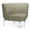 Triumph Series Armless 90 Degree Lounge Chair with Vinyl Seat and Chrome Frame