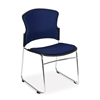 OFM Multi-Use Fabric Seat & Back Stacker, Navy