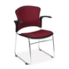 OFM MultiUse Chair with Fabric Seat and Back (Arms included), Wine