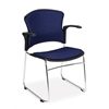 OFM MultiUse Chair with Fabric Seat and Back (Arms included), Navy