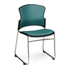 OFM Multi-Use Anti-Bacterial/Anti-Microbial Vinyl Seat & Back Stacker, Teal