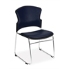 OFM Multi-Use Anti-Bacterial/Anti-Microbial Vinyl Seat & Back Stacker, Navy