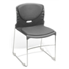 High Capacity Fabric Seat & Back Stacker, Gray