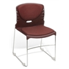 OFM High Capacity Fabric Seat & Back Stacker, Wine