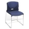 High Capacity Fabric Seat & Back Stacker, Navy