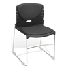 High Capacity Fabric Seat & Back Stacker, Black