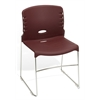 High Capacity Plastic Seat & Back Stacker, Burgundy