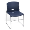 High Capacity Plastic Seat & Back Stacker, Navy