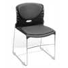 High Capacity Vinyl Seat & Back Stack Chair, Charcoal