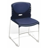 High Capacity Vinyl Seat & Back Stack Chair, Navy