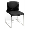 High Capacity Vinyl Seat & Back Stack Chair, Black
