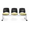 OFM Elements Stars 3-Unit Beam Seating with 3 Seats, Interplay Sprout