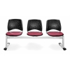 Elements Stars 3-Unit Beam Seating with 3 Seats, Tessuto Zin