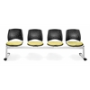 OFM Elements Stars 4-Unit Beam Seating with 4 Seats, Interplay Sprout