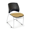 OFM Stars Series Stack Chair, Golden Flax