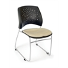 OFM Stars Series Stack Chair, Khaki