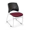 OFM Stars Series Stack Chair, Burgundy